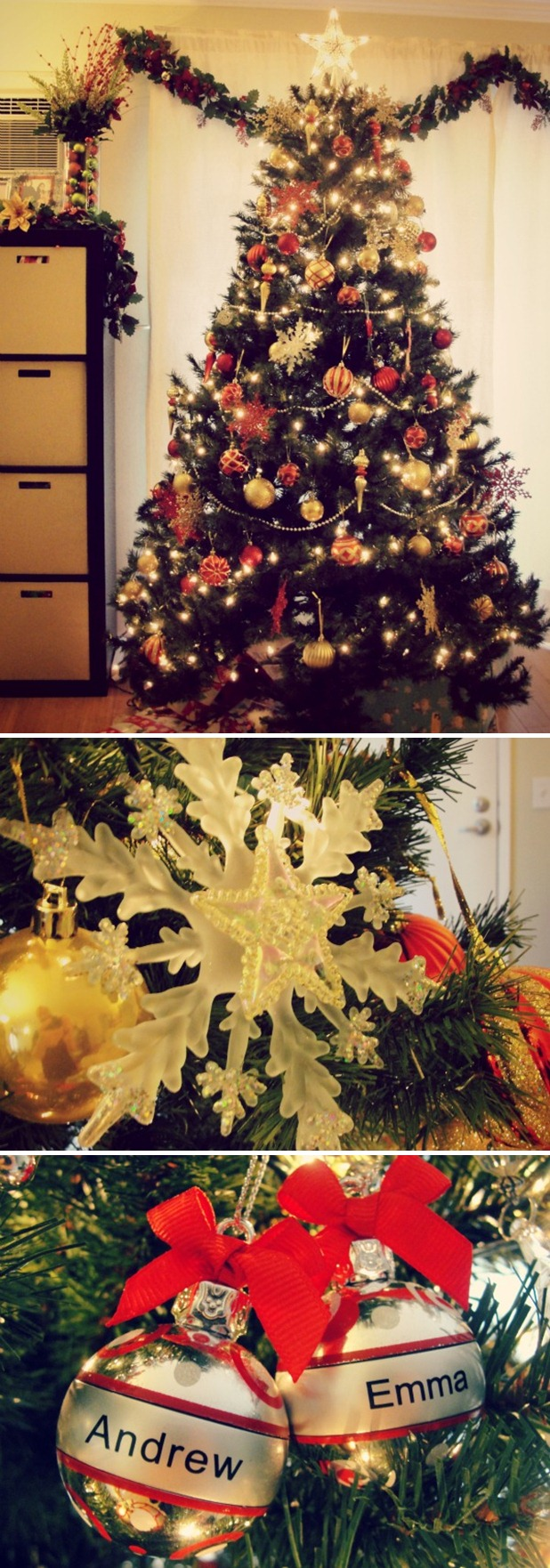 xmas tree collage