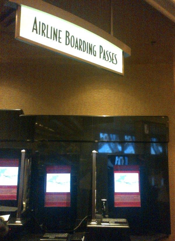 Las Vegas-boarding pass