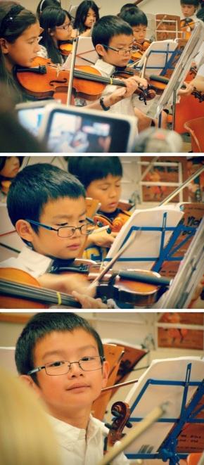 andrew violin collage
