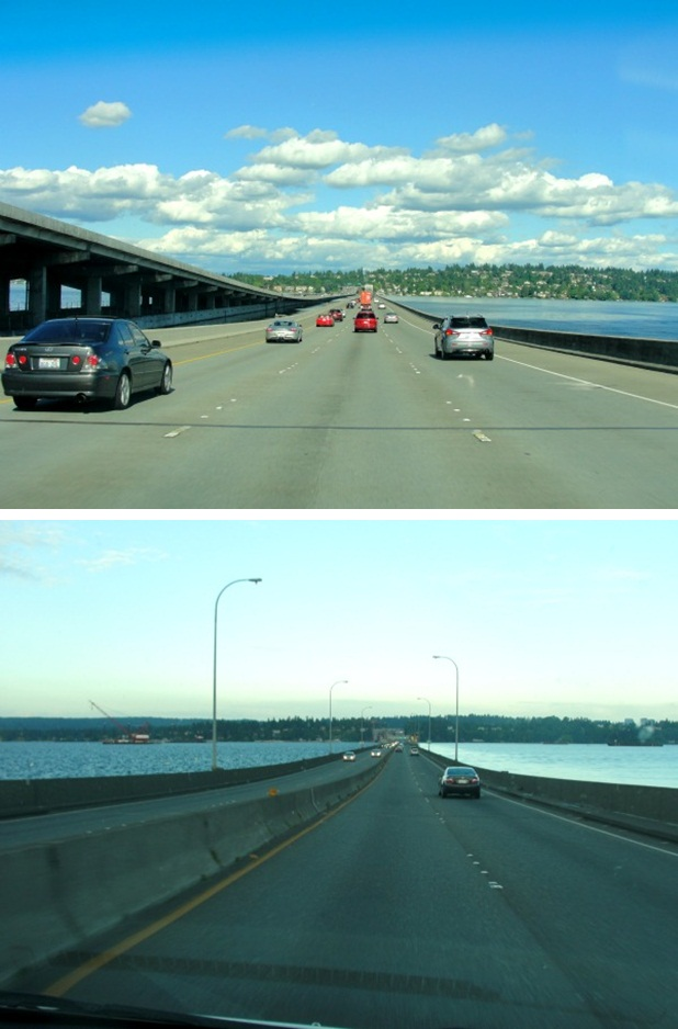 floating bridge collage