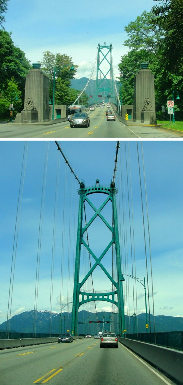lionsgate bridge collage