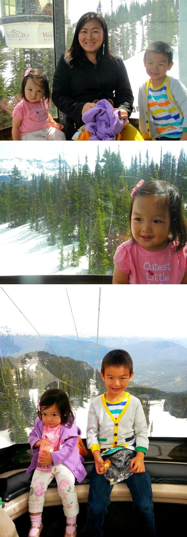 whistler village gondola view
