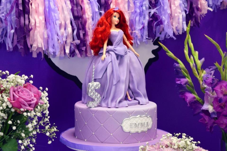 emma bday cake ariel