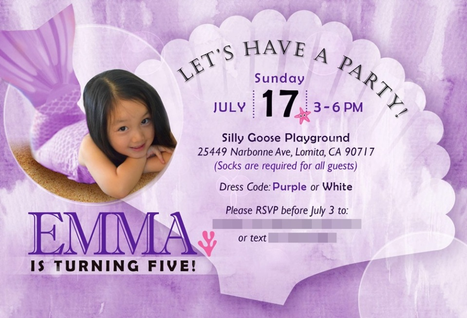 emma bday invitation